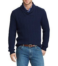 Chaps Men's Textured Shawl Collar Sweater