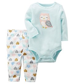 Carter's Baby Girls' 2 Piece Owl Bodysuit And Pants Set