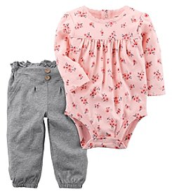 Carter's Baby Girls' 2 Piece Floral Bodysuit And Pants Set
