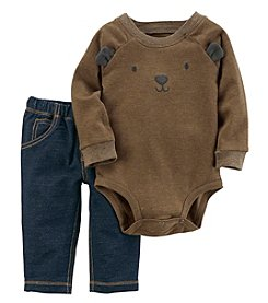 Carter's Baby Boys' 2 Piece Bear face Bodysuit And Pants Set