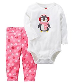 Carter's Baby Girls' Penguin 2 Piece Bodysuit And Pants Set