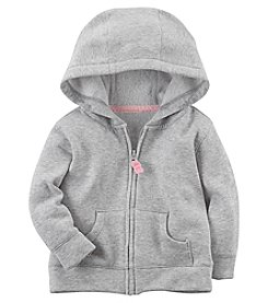 Carter's Baby Girls' Sparkle Fleece Zip Front Hoodie