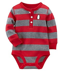 Carter's Baby Boys' Striped Penguin Thermal Bodysuit