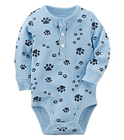 Carter's Baby Boys' Paw Print Thermal Bodysuit
