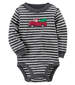 Carter's Baby Boys' Striped Holiday Truck Thermal Collectible Bodysuit