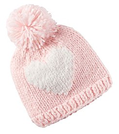 Carter's Baby Girls' Heart Pompom Hat