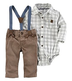 Carter's Baby Boys' 2 Piece Long Sleeve Bodysuit And Suspender Pants Set