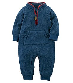 Carter's Baby Boys' One Piece Faux Sherpa Jumpsuit