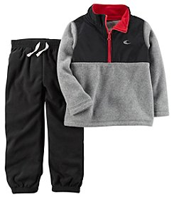 Carter's Baby Boys' 2 Piece Fleece Half Zip Pullover And Joggers Set