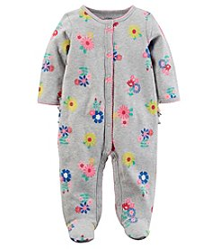 Carter's Baby Girls' 0-9M Snap Up Floral Cotton Sleep And Play