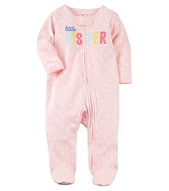 Carter's Baby Girls' Zip Up Little Sister Cotton Sleep And Play