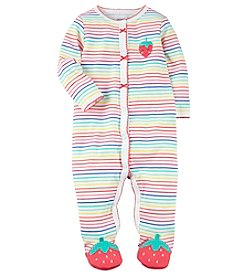 Carter's Baby Girls' Multi Striped Strawberry Sleep And Play
