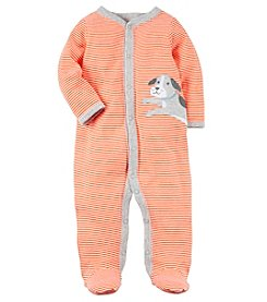 Carter's Baby Boys' 0-9 Months Striped Snap Up Dog Sleep And Play