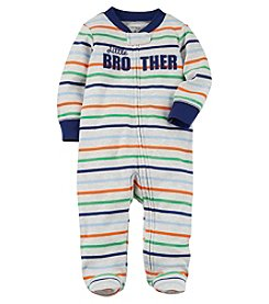 Carter's Baby Boys' Striped Zip Up Little Brother Cotton Sleep And Play