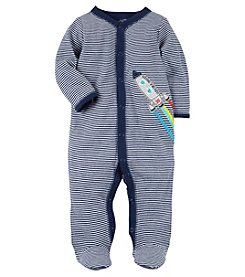 Carter's Baby Boys' Striped Snap Up Rocket Sleep And Play