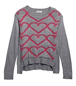 Jessica Simpson Girls' 7-16 Graphic Heart Sweatshirt