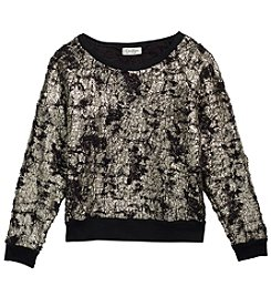 Jessica Simpson Girls' 7-16 Splatter Sweatshirt
