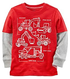 Carter's Baby Boys' Long Sleeve Construction Layered Look Tee