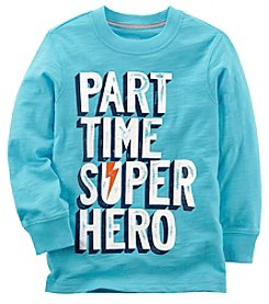 Carter's Baby Boys' Long Sleeve Part Time Super Hero Tee