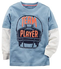 Carter's Baby Boys' Long Sleeve Team Player Layered Look Tee