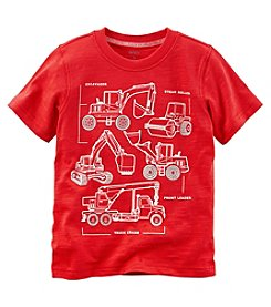 Carter's Baby Boys' Short Sleeve Construction Jersey Tee