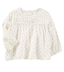 OshKosh B'Gosh Baby Girls' Long Sleeve Polka Dot Swing Top