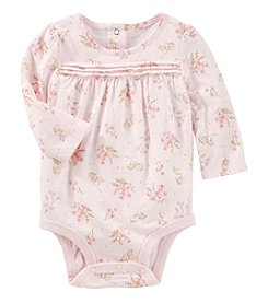 OshKosh B'Gosh Baby Girls' Floral Sparkle Bodysuit