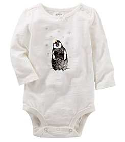 OshKosh B'Gosh Baby Girls' Knit Penguin Bodysuit
