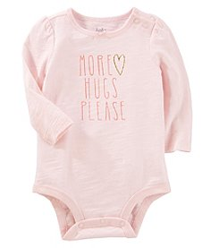 OshKosh B'Gosh Baby Girls' More Hugs Please Bodysuit
