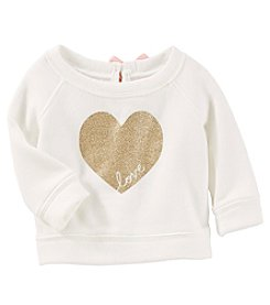 OshKosh B'Gosh Baby Girls' Sparkle Heart Pullover