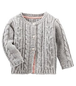 OshKosh B'Gosh Baby Girls' Cable Knit Sweater