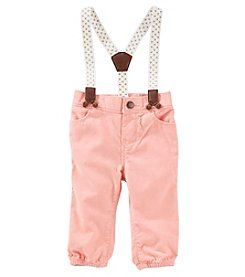 OshKosh B'Gosh Baby Girls' Suspender Jogger Pants