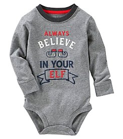 OshKosh B'Gosh Baby Boys' Long Sleeve Believe Bodysuit