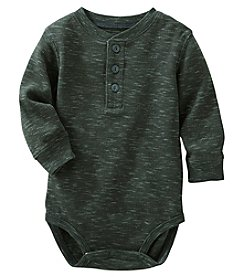 OshKosh B'Gosh Baby Boys' Long Sleeve Thermal Henley Bodysuit