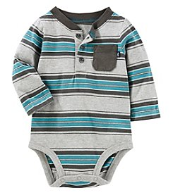 OshKosh B'Gosh Baby Boys' Striped Henley Bodysuit