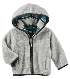 OshKosh B'Gosh Baby Boys' Hooded Sherpa Jacket