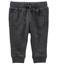 OshKosh B'Gosh Baby Boys' Welt Pocket Heathered Fleece Joggers