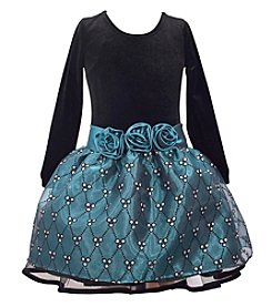 Gerson Girls' 7-16 Long Sleeve Bodice And Skirt Dress