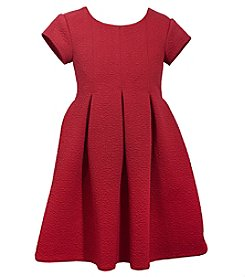 Gerson Girls' 7-16 Short Sleeve Pleated Dress