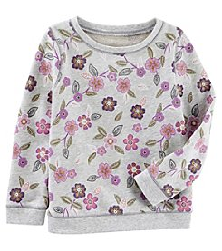 OshKosh B'Gosh Girls' 4-8 Long Sleeve Floral Sweatshirt