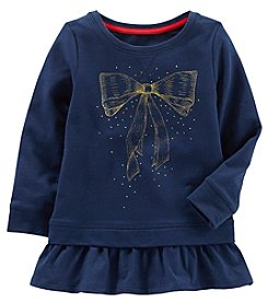 OshKosh B'Gosh Girls' 4-8 Long Sleeve Peplum Tunic