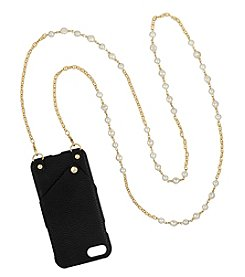 Laundry Goldtone Cell Phone Bead Necklace