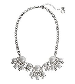 Erica Lyons Silvertone Pearl Clusters Necklace