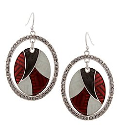 Erica Lyons Silvertone Multi Orbital Earrings