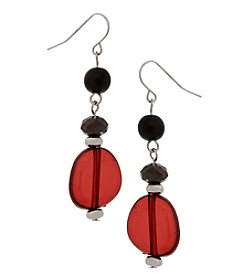 Erica Lyons Silvertone Multi 3 Drop Earrings
