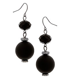 Erica Lyons Jet Double Drop Earrings