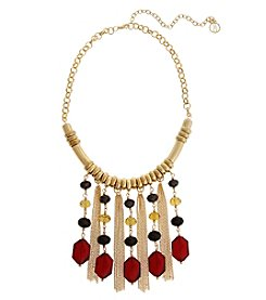Erica Lyons Goldtone Multi Short Necklace