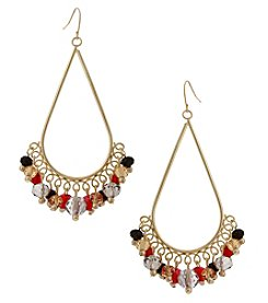 Erica Lyons Goldtone Multi Teardrop Shaky Earrings