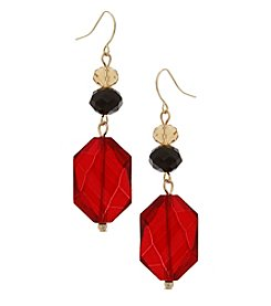 Erica Lyons Goldtone Multi Triple Drop Earrings