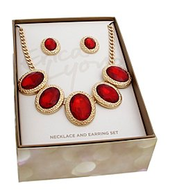 Erica Lyons Goldtone Necklace And Earrings Set
